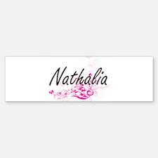 Nathalia Artistic Name Design with Bumper Bumper Bumper Sticker