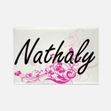 Nathaly Artistic Name Design with Flowers Magnets