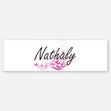 Nathaly Artistic Name Design with F Bumper Bumper Bumper Sticker