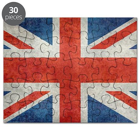 UK British Union Jack flag retro style Puzzle by listing ...
