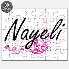 Nayeli Artistic Name Design with Flowers Puzzle