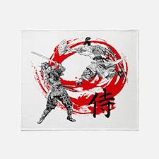 Samurai Warriors Throw Blanket