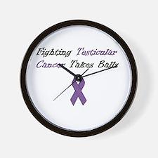 Testicular Cancer Awareness Wall Clock