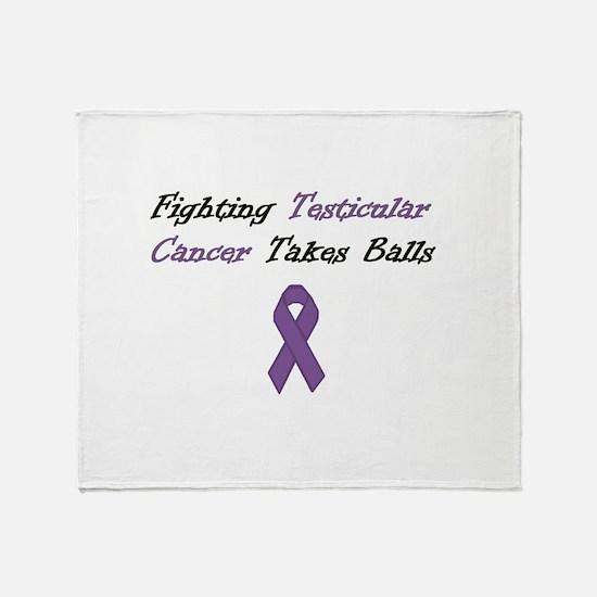 Testicular Cancer Awareness Throw Blanket