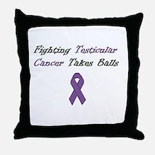 Testicular Cancer Awareness Throw Pillow
