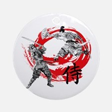 Samurai Warriors Round Ornament