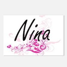 Nina Artistic Name Design Postcards (Package of 8)