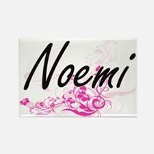 Noemi Artistic Name Design with Flowers Magnets
