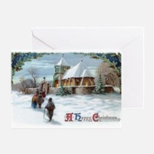 Vintage Christmas Card - A Happy Greeting Cards