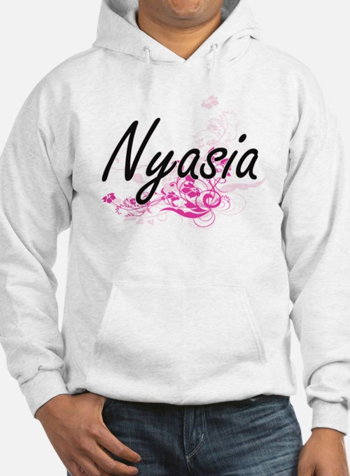 Nyasia Artistic Name Design with Hoodie Sweatshirt