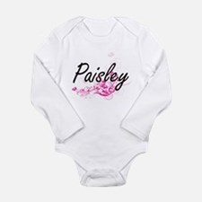 Paisley Artistic Name Design with Flower Body Suit