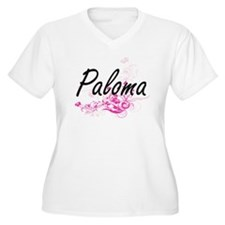 Paloma Artistic Name Design with Plus Size T-Shirt