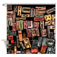 Wood Type Shower Curtain