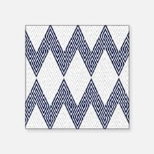 "Greek Key Chevron Square Sticker 3"" x 3"""