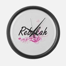 Rebekah Artistic Name Design with Large Wall Clock