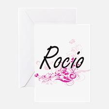 Rocio Artistic Name Design with Flo Greeting Cards