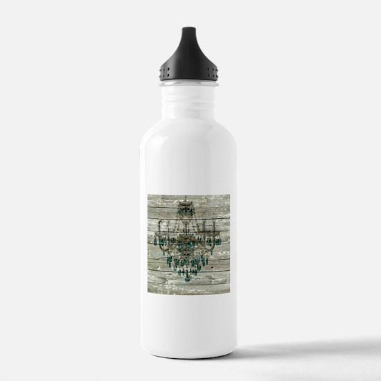 Rustic barn wood chan Water Bottle