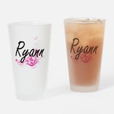 Ryann Artistic Name Design with Flo Drinking Glass