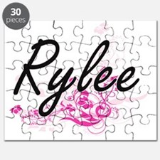 Rylee Artistic Name Design with Flowers Puzzle