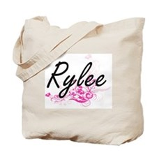 Rylee Artistic Name Design with Flowers Tote Bag