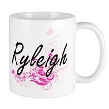 Ryleigh Artistic Name Design with Flowers Mugs