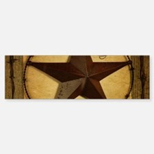 primitive texas lone star cowboy Bumper Bumper Bumper Sticker