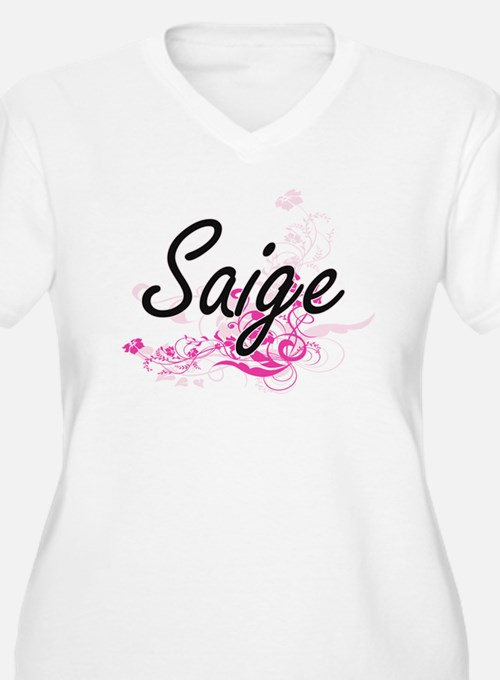 Saige Artistic Name Design with Plus Size T-Shirt