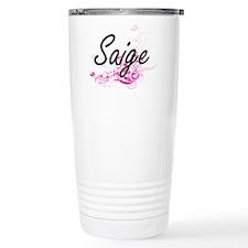 Saige Artistic Name Des Travel Coffee Mug