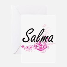 Salma Artistic Name Design with Flo Greeting Cards