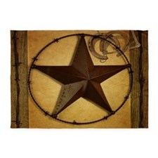 primitive texas lone star cowboy 5'x7'Area Rug