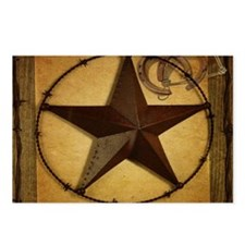primitive texas lone sta Postcards (Package of 8)