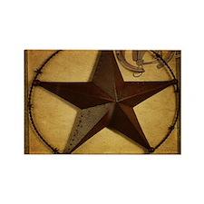 primitive texas lone star cowboy Magnets
