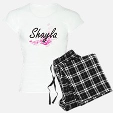Shayla Artistic Name Design Pajamas