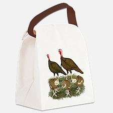 Turkeys Chocolate Family Canvas Lunch Bag