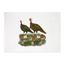 Turkeys Chocolate Family 5'x7'Area Rug