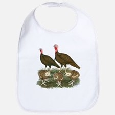 Turkeys Chocolate Family Bib