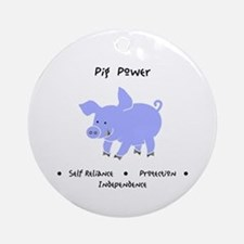 Purple Pig Totem Power Gifts Round Ornament