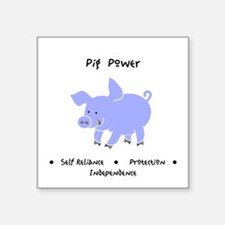 Purple Pig Totem Power Gifts Sticker
