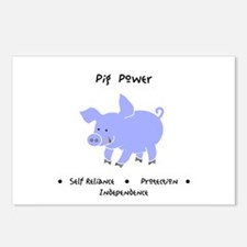 Purple Pig Totem Power Gifts Postcards (Package of