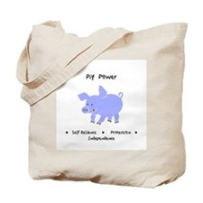 Purple Pig Totem Power Gifts Tote Bag