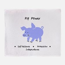 Purple Pig Totem Power Gifts Throw Blanket