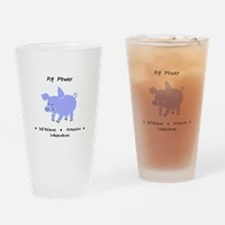 Purple Pig Totem Power Gifts Drinking Glass