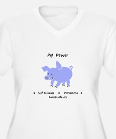 Purple Pig Totem Power Gifts Plus Size T-Shirt