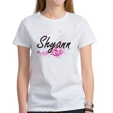 Shyann Artistic Name Design with Flowers T-Shirt