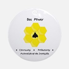 Bee Community Power Animal Gifts Round Ornament