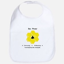 Bee Community Power Animal Gifts Bib
