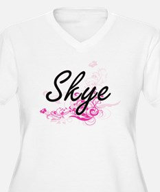 Skye Artistic Name Design with F Plus Size T-Shirt