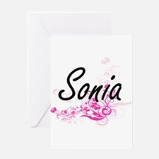 Sonia Artistic Name Design with Flo Greeting Cards