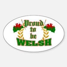 Proud to be Welsh Oval Decal