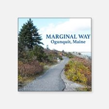 """Ogunquit Marginal Way walkw Square Sticker 3"""" x 3"""""""